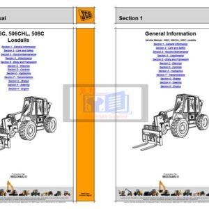 JCB 506C, 506CHL, 508C Loadall Service Repair Manual