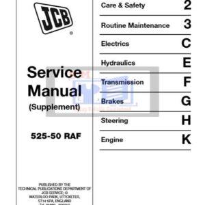 JCB 525-50 RAF Supplement Service Repair Manual