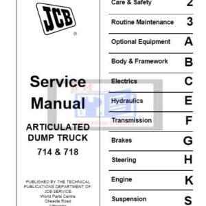 JCB Articulated Dump Truck 714 and 718 Service Repair Manual