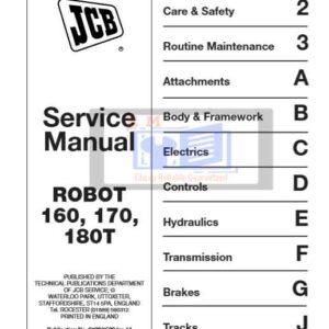 JCB ROBOT 160, 170, 180T Service Repair Manual