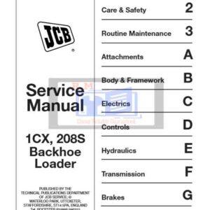 JCB 1CX, 208S Backhoe Loader Service Repair Manual