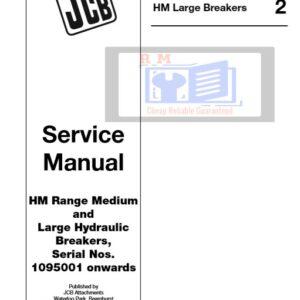 JCB HM Range Medium and Large Hydraulic Breakers Service Repair Manual