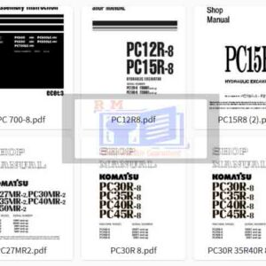 Komatsu Excavator PC -8 Workshop Manuals Collection