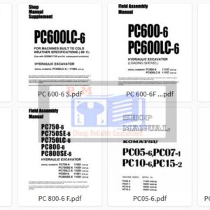 Komatsu Excavator PC -6 Workshop Manuals Collection
