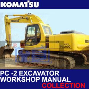 Komatsu Excavator PC -2 Workshop Manuals Collection