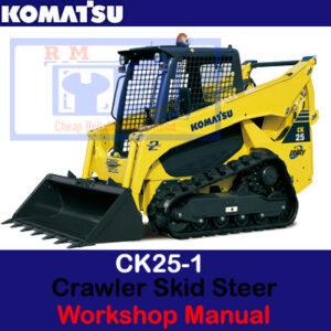 Komatsu CK25-1 Crawler Skid Steer Loader Workshop Manual