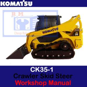 Komatsu CK35-1 Crawler Skid Steer Loader Workshop Manual