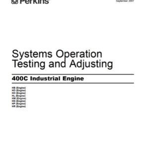 Perkins 400C Industrial Engine Testing and Adjusting