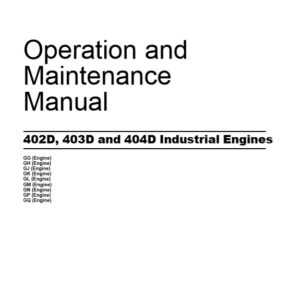 Perkins 402D, 403D and 404D Industrial Engines Operation and Maintenance Manual