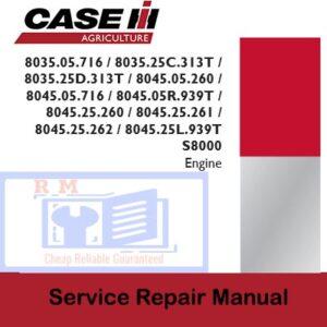 Case IH Tractor 8035, 8045 Series Service Repair Manual