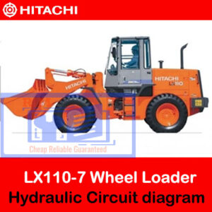 Hitachi LX110-7 Hydraulic Circuit diagram