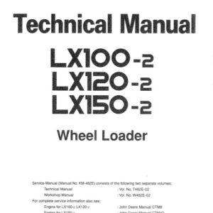 Hitachi LX100-2, LX120-2, LX150-2 Wheel Loader Technical Manual