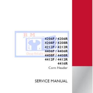 Case IH Tractor 4206F, 4206R, 4208F, 4208R, 4212F, 4212R, 4406F,4406R, 4408F, 4408R, 4412F, 4412R, 4416R Service Repair Manual