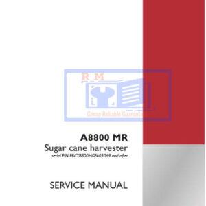 Case IH Tractor A8800 MR Sugar Cane Harvester Service Manual