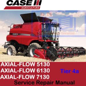 Case Axial Flow 5130, 6130, 7130 Tier 4a Combine Service Repair Manual