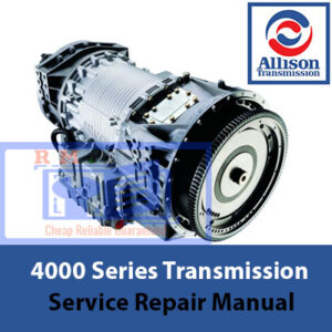 Allison Transmission 4000 Series Service Repair Manual