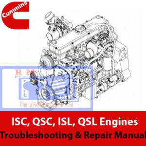 Cummins ISC, QSC, ISL, QSL Engines Troubleshooting & Repair Manual