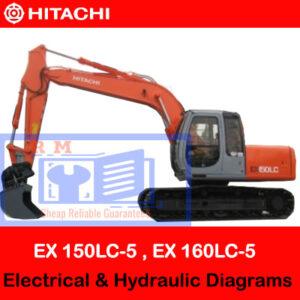 Hitachi EX 150LC-5 , EX 160LC-5 Electrical & Hydraulic Diagrams