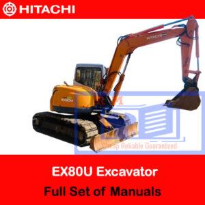 Hitachi EX80U Full Set of Manuals