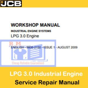JCB LPG 3.0 Industrial Engine Systems Workshop Manual