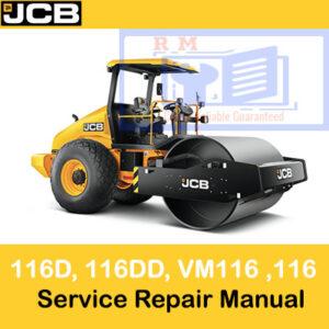 JCB Road Roller 116, 116D, 116DD, VM116 Service Repair Manual