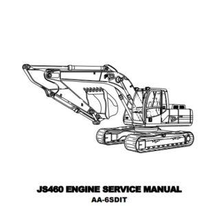 JCB JS460 Engine Isuzu AA-6SD1T Service Repair Manual