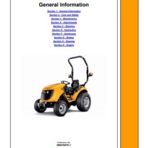 JCB 323, 327 HST Tractor Service Repair Manual