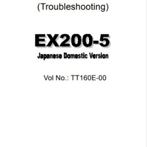 Hitachi EX 200-5 Technical Manuals [Japanese Domestic Version]