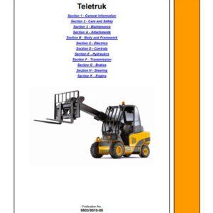 JCB 2.5, 3.0, 3.5 Series Lift Teletruk Service Repair Manual