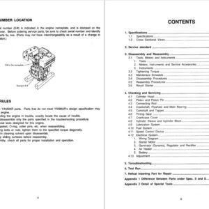 JCB Engines Yanmar L-A -Series Service Repair Manual