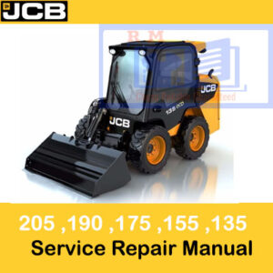 JCB 135, 155, 175, 190, 205 Skid steer Service Repair Manual