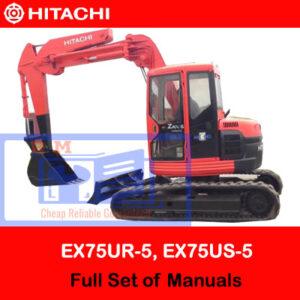 Hitachi EX75UR-5, EX75US-5 Full Set of Manuals
