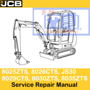 JCB 8025ZTS, 8026CTS, JS30, 8029CTS, 8030ZTS, 8035ZTS Service Repair Manual