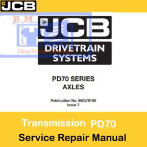 JCB Drivetrain PD70 Series Axles Service Repair Manual