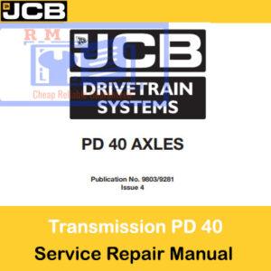 JCB Drivetrain PD40 AXLES Service Repair Manual