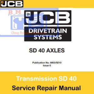 JCB Drivetrain SD40 Axles Service Repair Manual