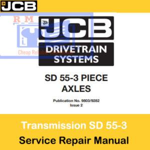 JCB Drivetrain SD 55-3 Piece Axles Service Repair Manual