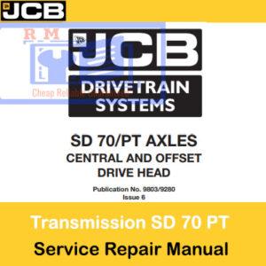 JCB Drivetrain SD 70 PT Axles Service Repair Manual