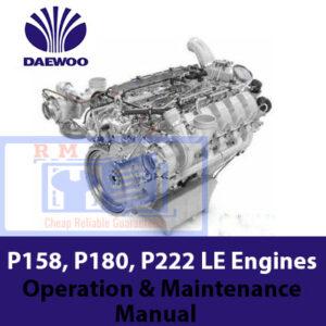 Daewoo P158, P180, P222 LE Generator Diesel Engines Manual