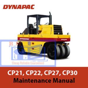 Dynapac CP21, CP22, CP27, CP30 Maintenance Manual