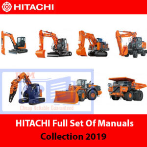 Hitachi Heavy Machinery Manuals Set of Collection 2019