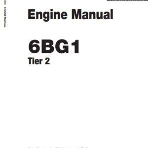 Isuzu 6BG1 Engine Manual Related With Hitachi Product
