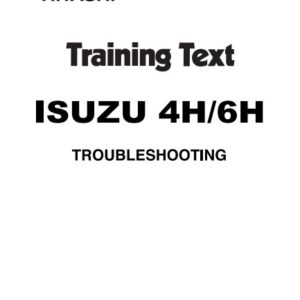 Isuzu 4H, 6H Engines Troubleshooting Manual Related With Hitachi Product