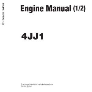 Isuzu 4JJ1 Engine Manual Related With Hitachi Product