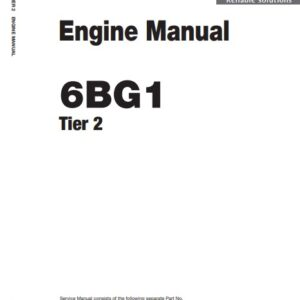 Hitachi Zx200-5g Engine Manual , Isuzu 6BG1