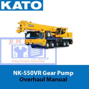 KATO NK-550VR Gear Pump Overhaul Manual