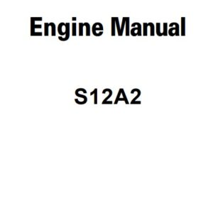 Mitsubishi S12A2 Engine Service Repair Manual Related with Hitachi Product