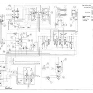 KATO KR-10H Crane Hydraulic Diagram