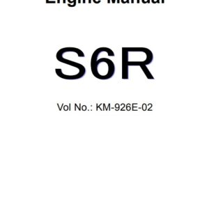Mitsubishi S6R Engine Service Repair Manual Related with Hitachi Product
