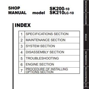 Kobelco SK200-10, SK210LC-10 Workshop Manual